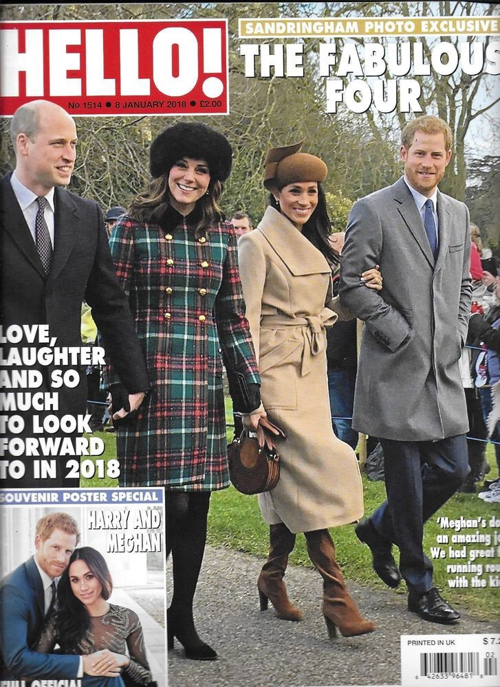 Hello magazine Kate Middleton Meghan Markle Prince William and Harry Katie Piper