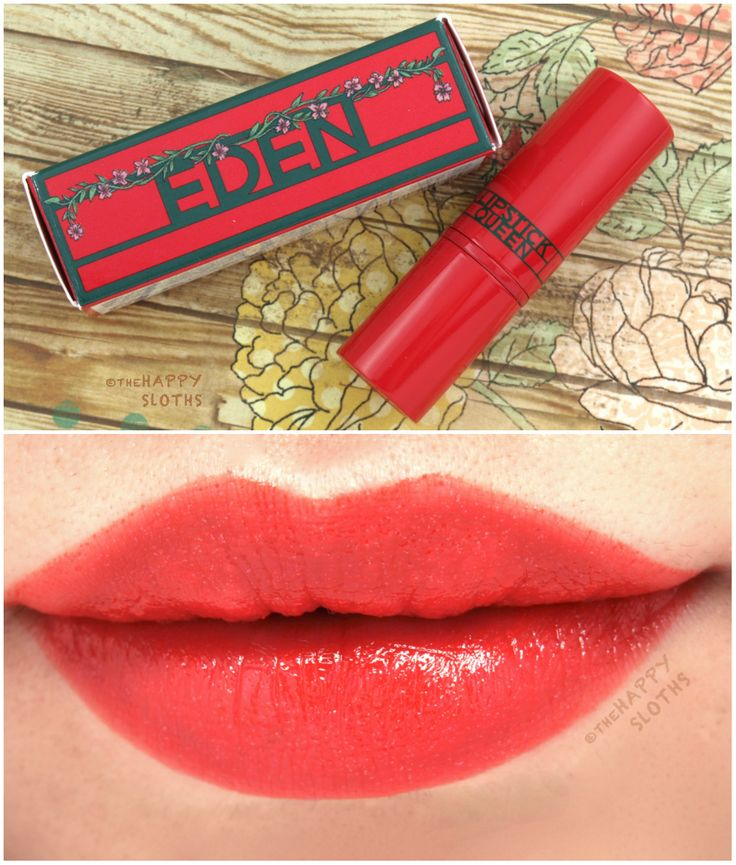 The Happy Sloths: Lipstick Queen Eden Lipstick: Review and Swatches
