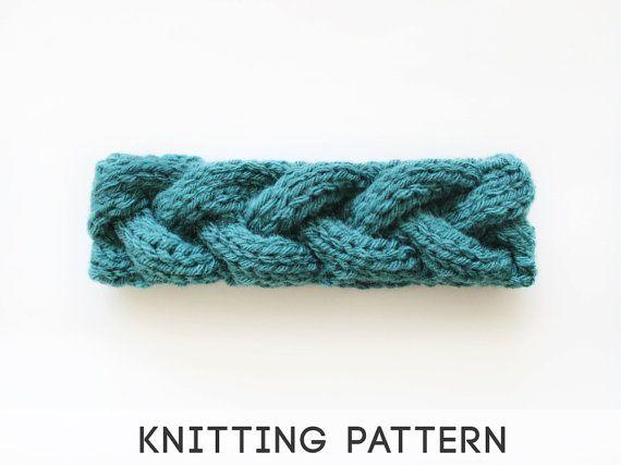 Sage green cable knit headband knitting pattern Knitting ...