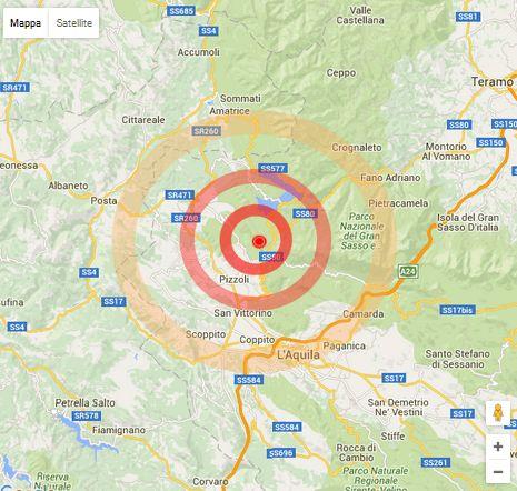Terremoto. ORE 10:25 con 5.3 di magnitudo. Epicentro Montereale(AQ). Crolla campanile ad Amatrice