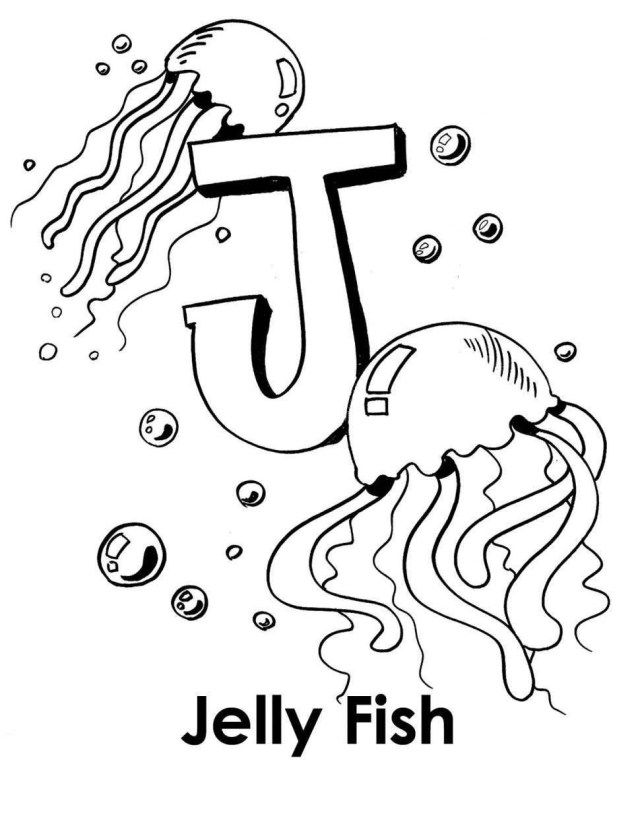 Beautiful Photo Of Letter J Coloring Page Albanysinsanity Com Fish Coloring Page Coloring Letters Coloring Worksheets For Kindergarten