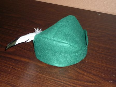 "This week, I had the privilege of making Robin Hood Hats for eleven men.  Merry men, of course.  My son, his math teacher and 9 of his classmates decided a few weeks ago to perform the song ""Men in Tights"" from the movie ""Robin Hood:  Men in Tights"" for the middle school ta"