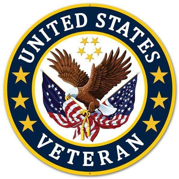Vietnam Veteran Eagle and Ribbon Military License Plate