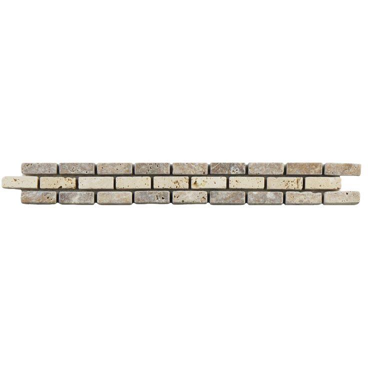 SomerTile 1.25x12-inch Tivoli Brick Noce Chiaro Border Trim Wall Tile