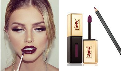 Höstens stora makeuptrend: Mörka läppar