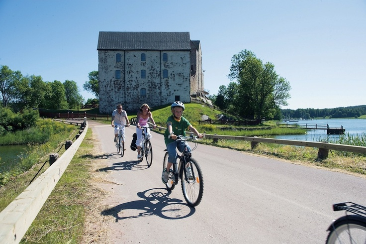 Cycling near Mariehamn, Aland Islands, Finland