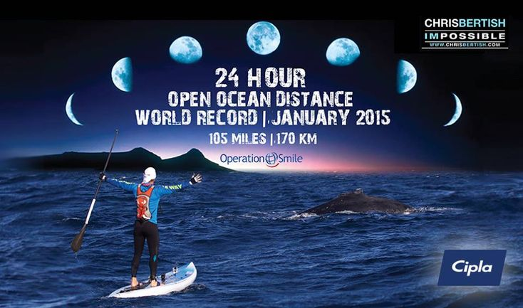 AMAZING vid of Chris Bertish's 24 Hour SUP attempt in January 2015