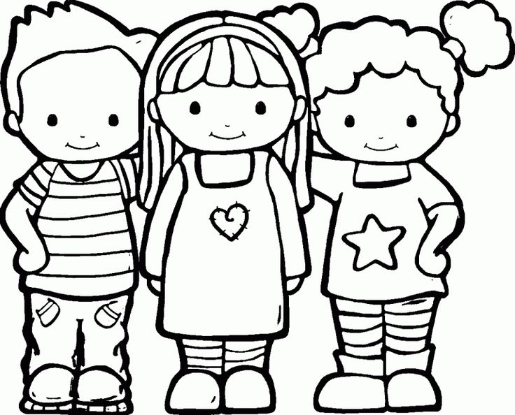 Friendship Coloring Pages – Preschool Coloring Pages Printables