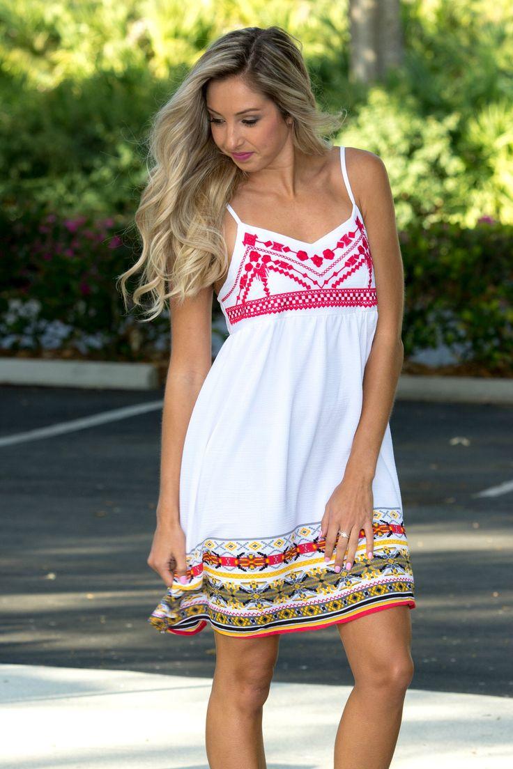 Little Havana White Babydoll Dress