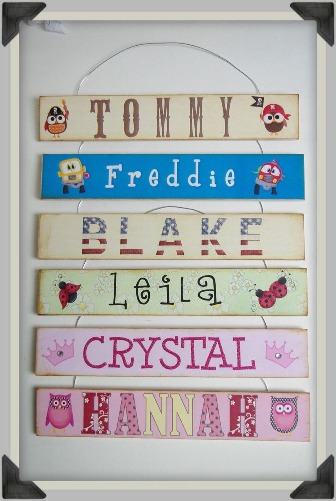 240 best wooden plaques images on pinterest wooden plaques baby personalized childrens name plaques door signs birthday gift present new baby negle Images