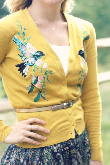 Bird Cardigan | http://prettylifeanonymous.blogspot.com/ @choies, @Blue Nile