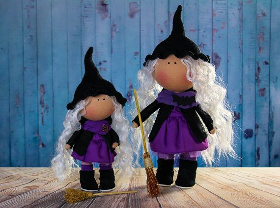Big doll. Witch doll Bella. Halloween doll. Tilda doll. by OwlsUa