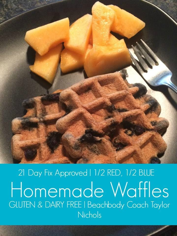Taylor Nichols: 21 Day Fix Waffles (Dairy and Gluten Free)