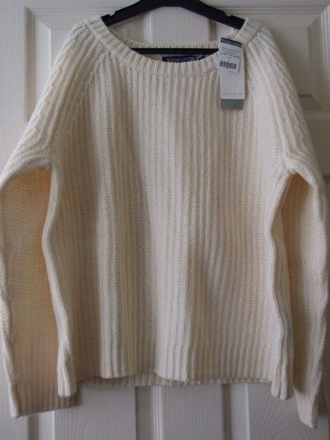 "Woolovers Lambswool Chunky Knit Jumper Size Small S 46"" Bnwt Unisex Mens Ladies"