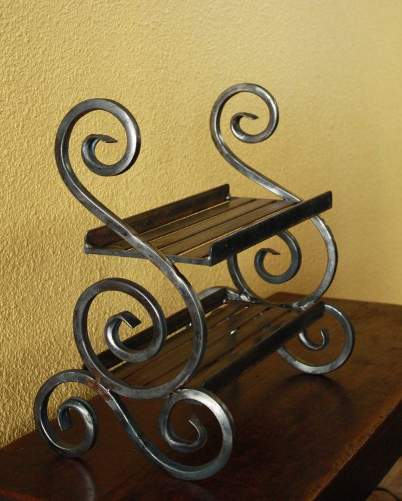 Wrought iron shelf by SteelCreating on Etsy, $124.99