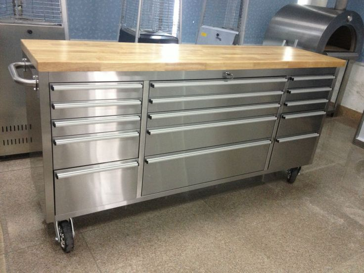 Tool Storage Stainless Steel Rolling Cabinet Inch Ultimate