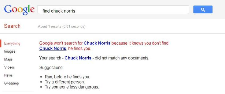 Hey guys...um...so I searched up find chuck Norris on Google and look what came up 0_o -Destiny