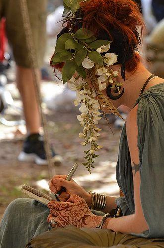 Texas Renaissance Festival 2012.  Try wisteria for my colour of hair.