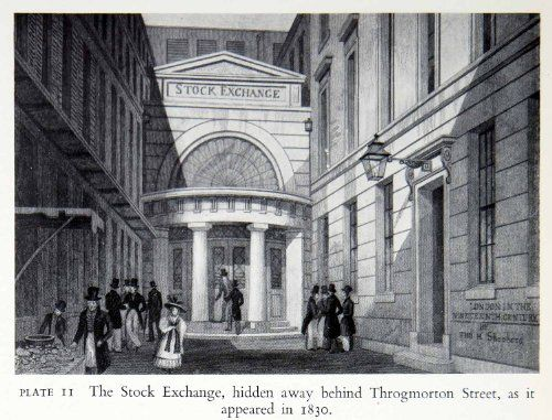 Image result for london stock exchange 1830