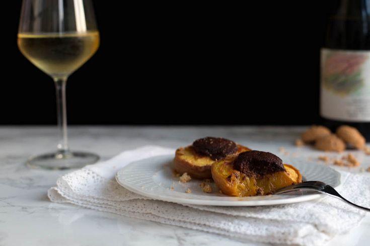 Pesche ripiene piemontesi is a typical Piedmontese dessert made with…