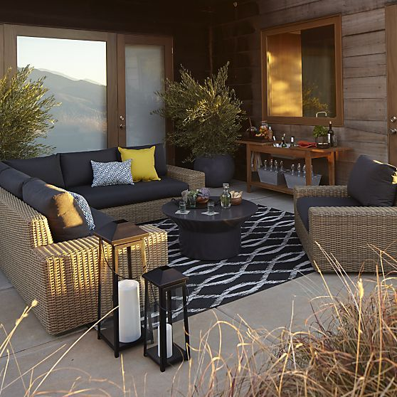 Newport Sectional and Lounge Chair with Sunbrella® Charcoal Cushions | Crate  and Barrel - 137 Best Crate Images On Pinterest