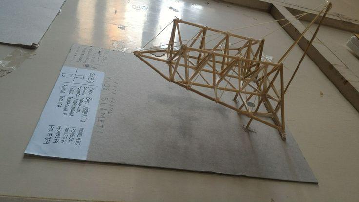 Maket Space Frame. Struktur, Konstruksi & Bahan Bangunan 4