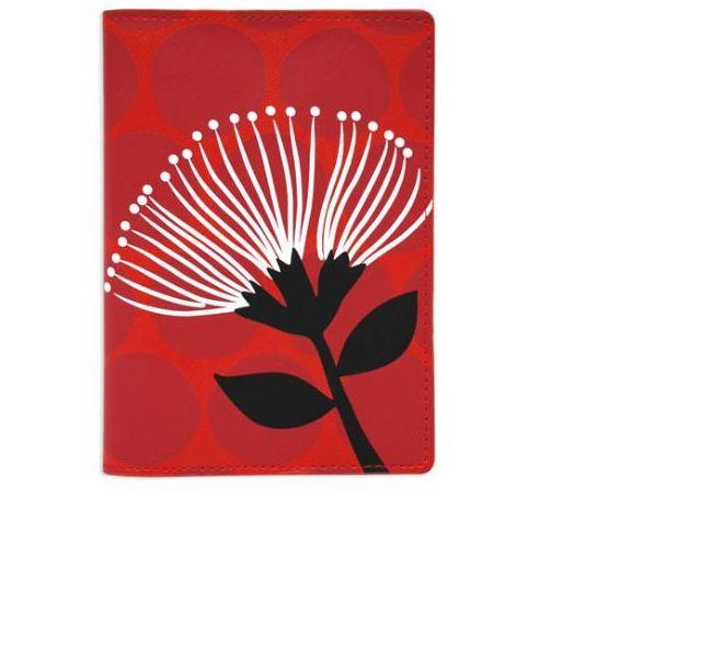 Pohutukawa design passport holder by DQ & Co.