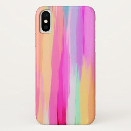 Pastel Colored Abstract Background #10 iPhone X Case - girly gift gifts ideas cyo diy special unique