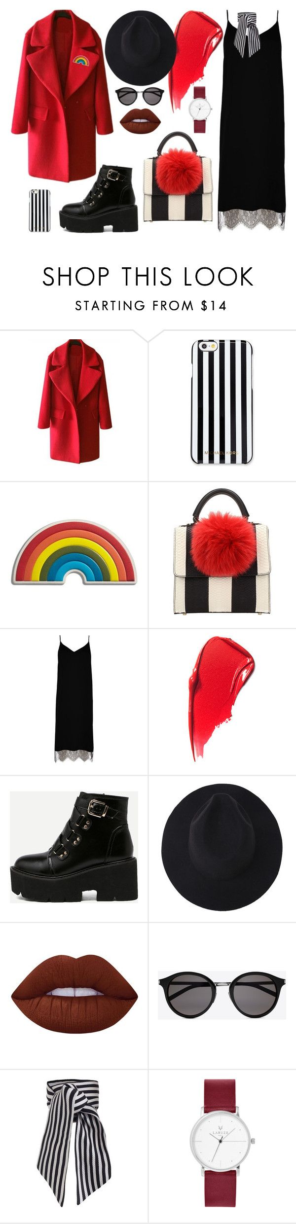 Française by ladyion on Polyvore featuring мода, River Island, Les Petits Joueurs, MICHAEL Michael Kors, Zimmermann, Yves Saint Laurent, Anya Hindmarch and Lime Crime
