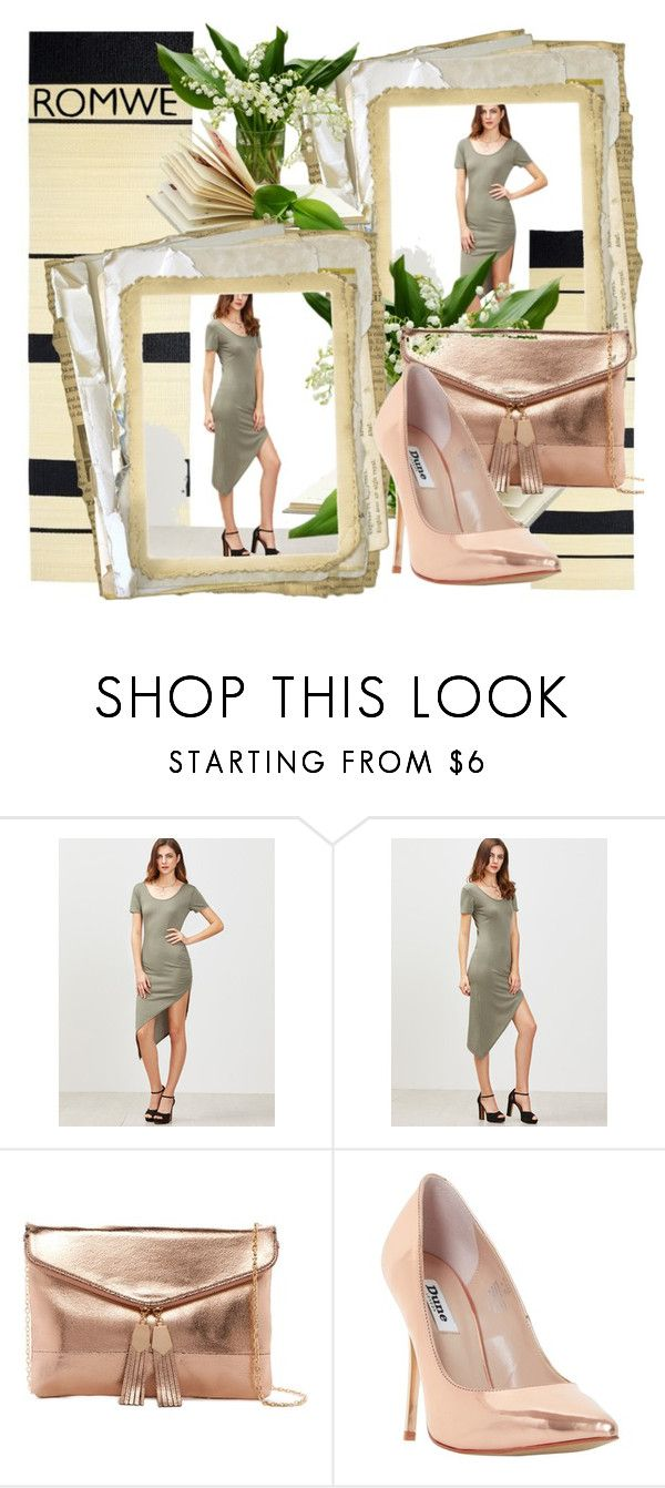 """""""ROMWE contest"""" by entertainment-1 ❤ liked on Polyvore featuring Urban Expressions and Dune"""