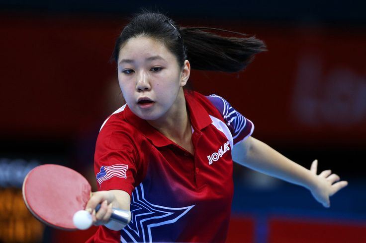 Day 1:  Table Tennis - Women's Singles - Lily Zhang of USA