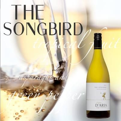 Songbird: A complex Sauvignon blanc, combining aromas and flavours of green pepper, asparagus and gooseberries with tropical fruit and hints of grapefruit on the finish. The palate is full, yet elegant.