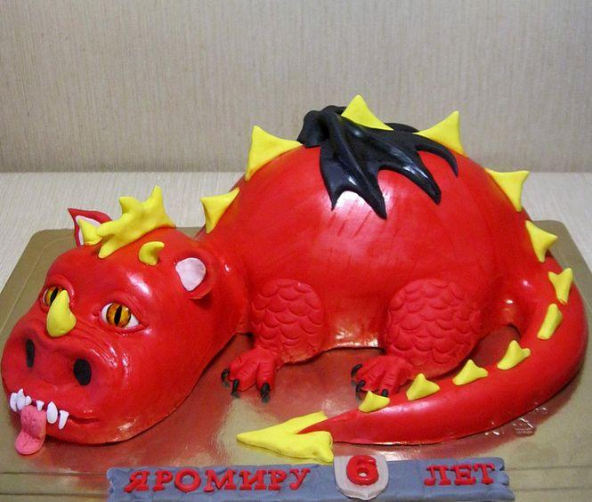 торт Большой красный дракон
