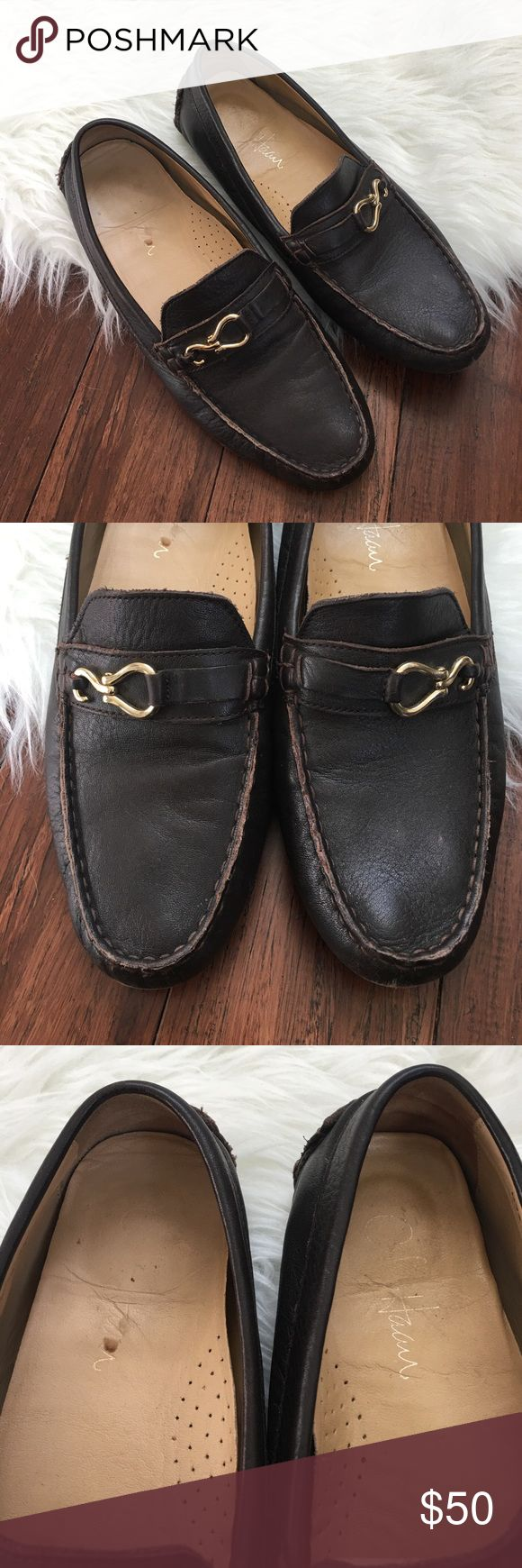 Cole Haan Chocolate Brown Buckled Driver Loafers In great used condition. Some wear as shown in the photos. Please review before purchasing! Leather upper. Nike Air technology in the soles. Extremely comfortable! Cole Haan Shoes Flats & Loafers