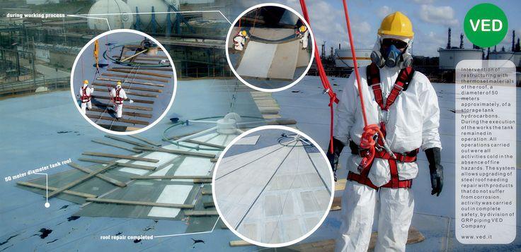 Riparazione tu tetto serbatoio con rinforzo strutturale