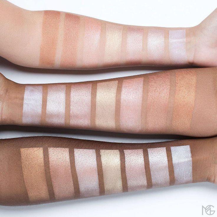 Makeup Geek Highlighters:  • Ignite • Firework • Daybreak • Midnight Sun • Rekindle • Luster • Glitz