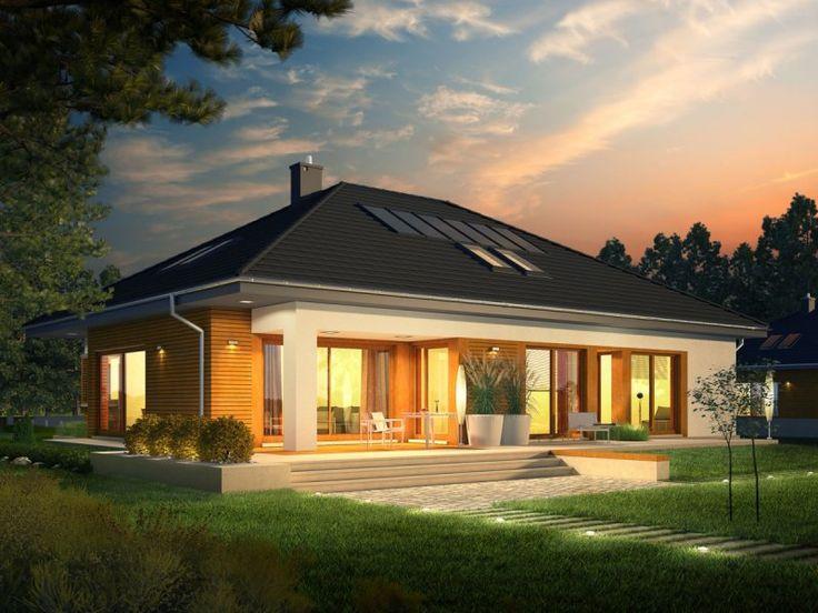 Nowoczesna elegancja w czystej formie. Dzięki zastosowaniu dużej ilości okien domownicy mogą czerpać radość i energię z imponującej porcji naturalnego światła, które swobodnie przenika do wnętrz.