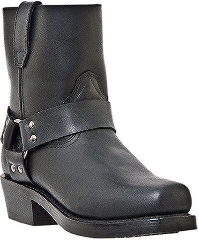 Dingo Mens Black Full Grain Leather Rev-Up Snoot Toe Cowboy Boots