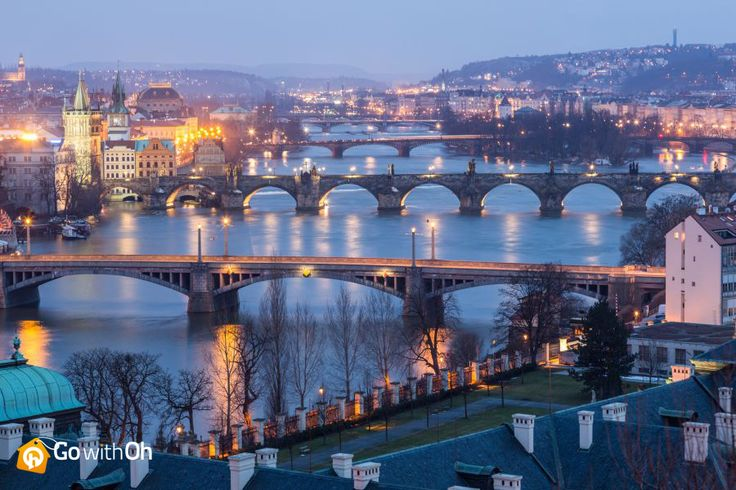 WOW! Do you think #Prague has enough bridges?!  Who has visited this beautiful city? Find the neighborhood for you with our district guide #GowithOh
