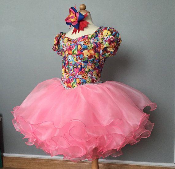 Shopkins birthday dress by TUTUBUGAbuDhabi on Etsy