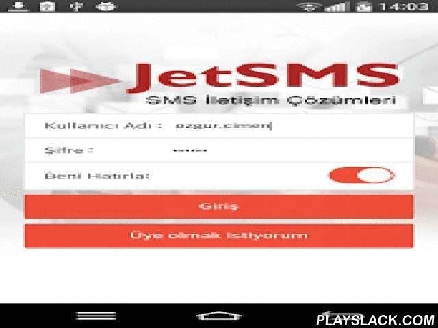 JetSMS - Kurumsal Toplu SMS  Android App - playslack.com ,  JetSMS servisleri cebinizde! İster SMS gönderimlerinizi cepten yapın, isterseniz tüm JetSMS raporlarınızı cebinizden izleyin.JetSMS Cep Uygulaması ile gönderdiğiniz toplu mesajlarınız en kolay, en hızlı ve en güvenli şekilde hedef kitlenize ulaştırılır. Şirketiniz varsa, ayrıcalıklardan yaralanmak için bize başvurun.Kurumların, SMS tabanlı her türlü tüm iletişim ve mobil pazarlama ihtiyaçlarına yönelik tasarlanmış JetSMS'in…