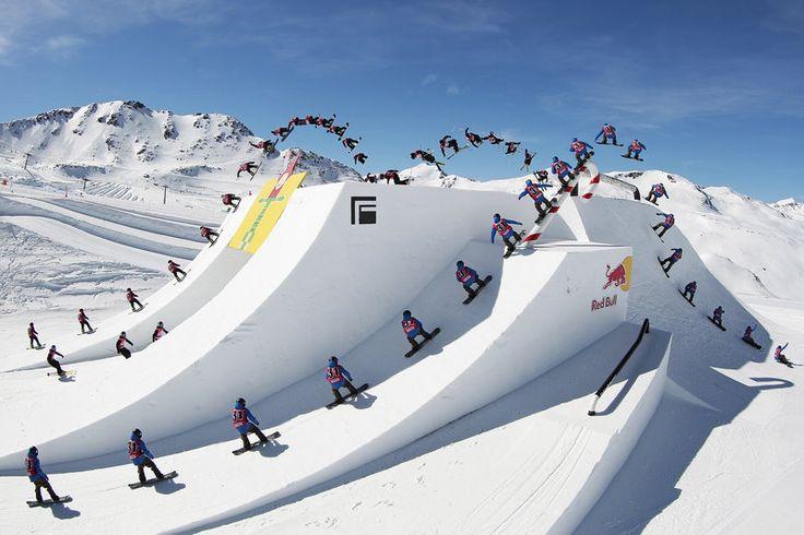 Cool as ice. #redbull #snowboarding