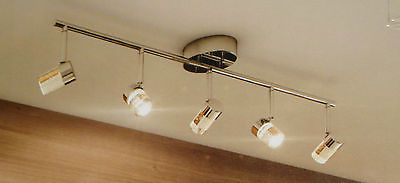 Artika Champagne Track 5 Light Led Fixture With Bubbled