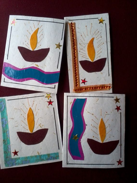Diwali Homemade Greeting Card Ideas