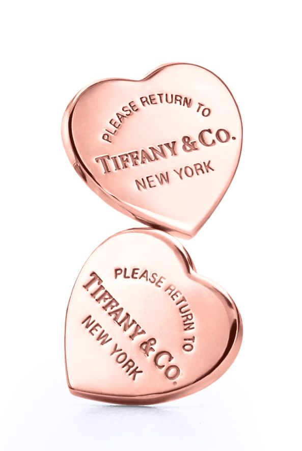 From New York with love. Return to Tiffany® mini heart earrings in RUBEDO® metal.