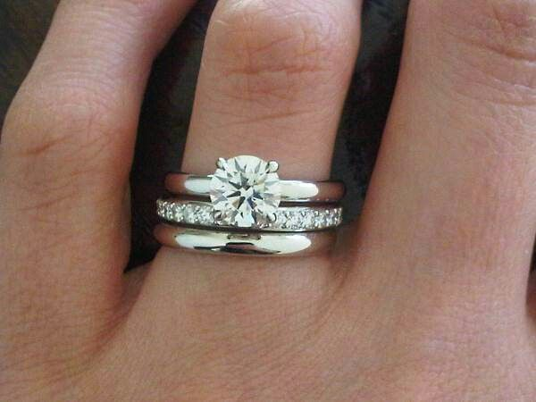 """love this! for my """"on a budget"""" destination wedding. simple wedding band for now. diamond anniversary band, for extra shine, later."""