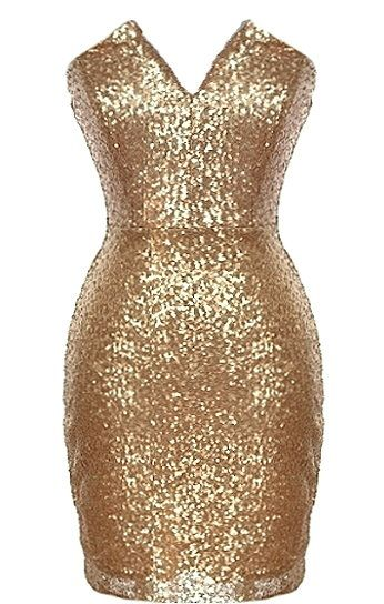Endless Party Dress: Features a gorgeous petal-shaped neckline with razor sharp tailoring, pretty princess seams to the bust, thousands of glittering sequin pieces covering the entire dress, and a sleek form-fitting silhouette to finish.