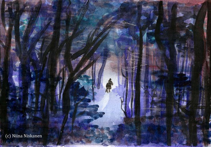How to Paint a Rider in the Forest: a Watercolor Tutorial
