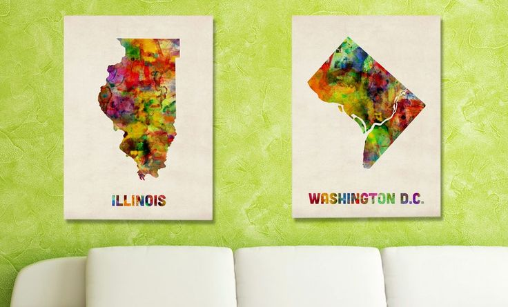 State Map Canvas Print ($ 159.99 List Price).Groupon deal price: $39.99
