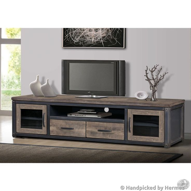 Weathered Entertainment Center Rustic TV Stand Vintage Media Console Furniture   eBay